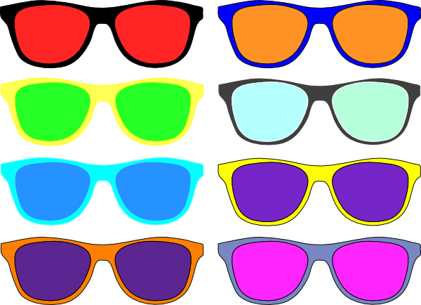 black and white library Colorful sunglasses clip art. Beard clipart chasma.