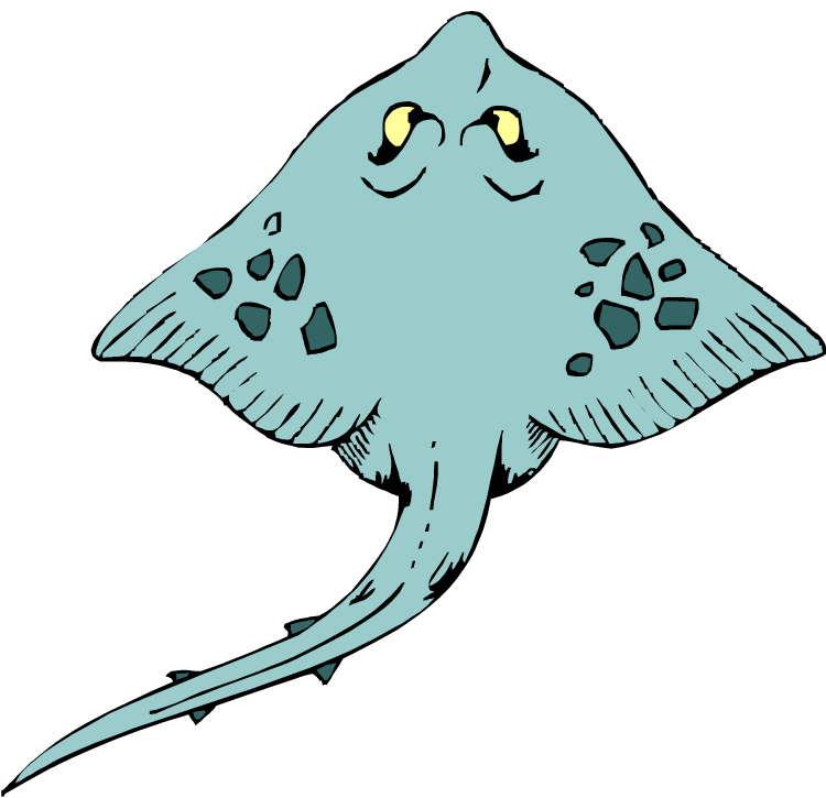banner royalty free library Free Stingray Clipart