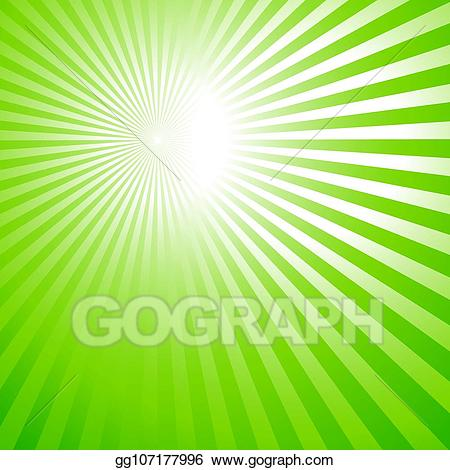 image transparent Vector art green background. Rays clipart.