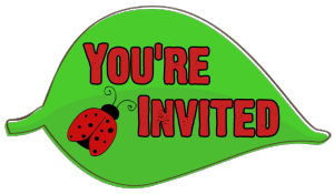 free stock Free ladybug for invitations. Re invited clipart.