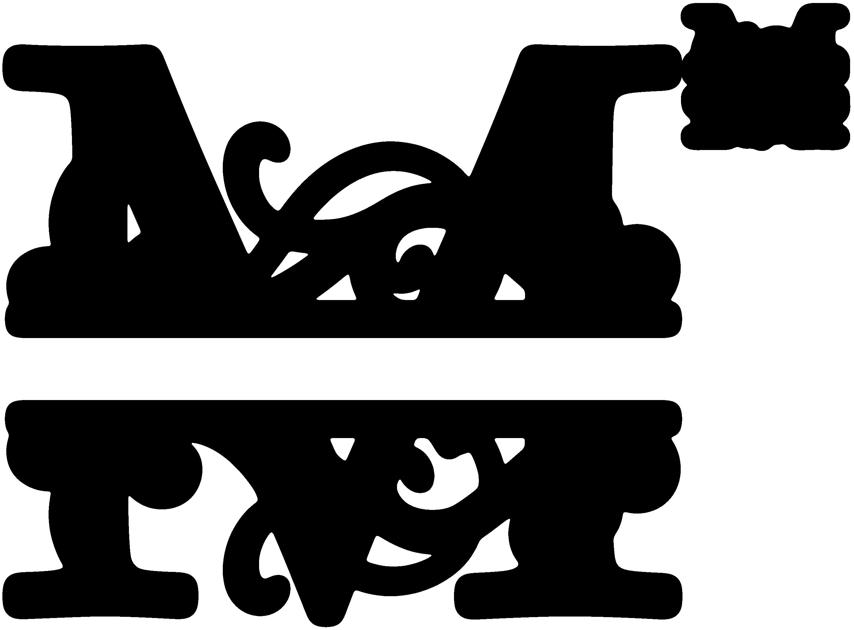 banner freeuse library M Split Monogram SDS M Split Monogram