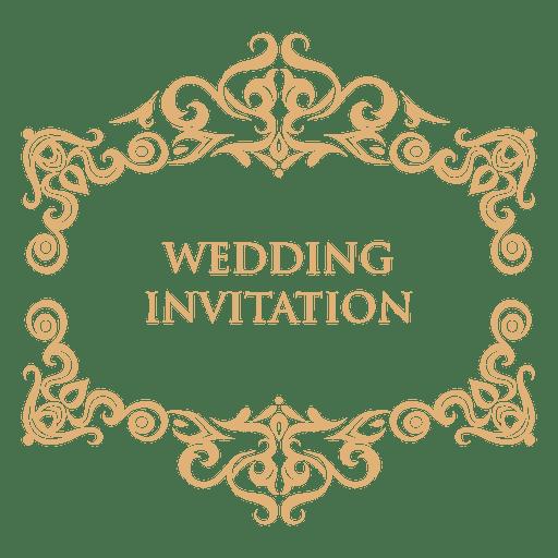 png library Vector emblem wedding. Invitation label transparent png