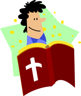 png black and white library Happy man clipart. Image reading bible christart