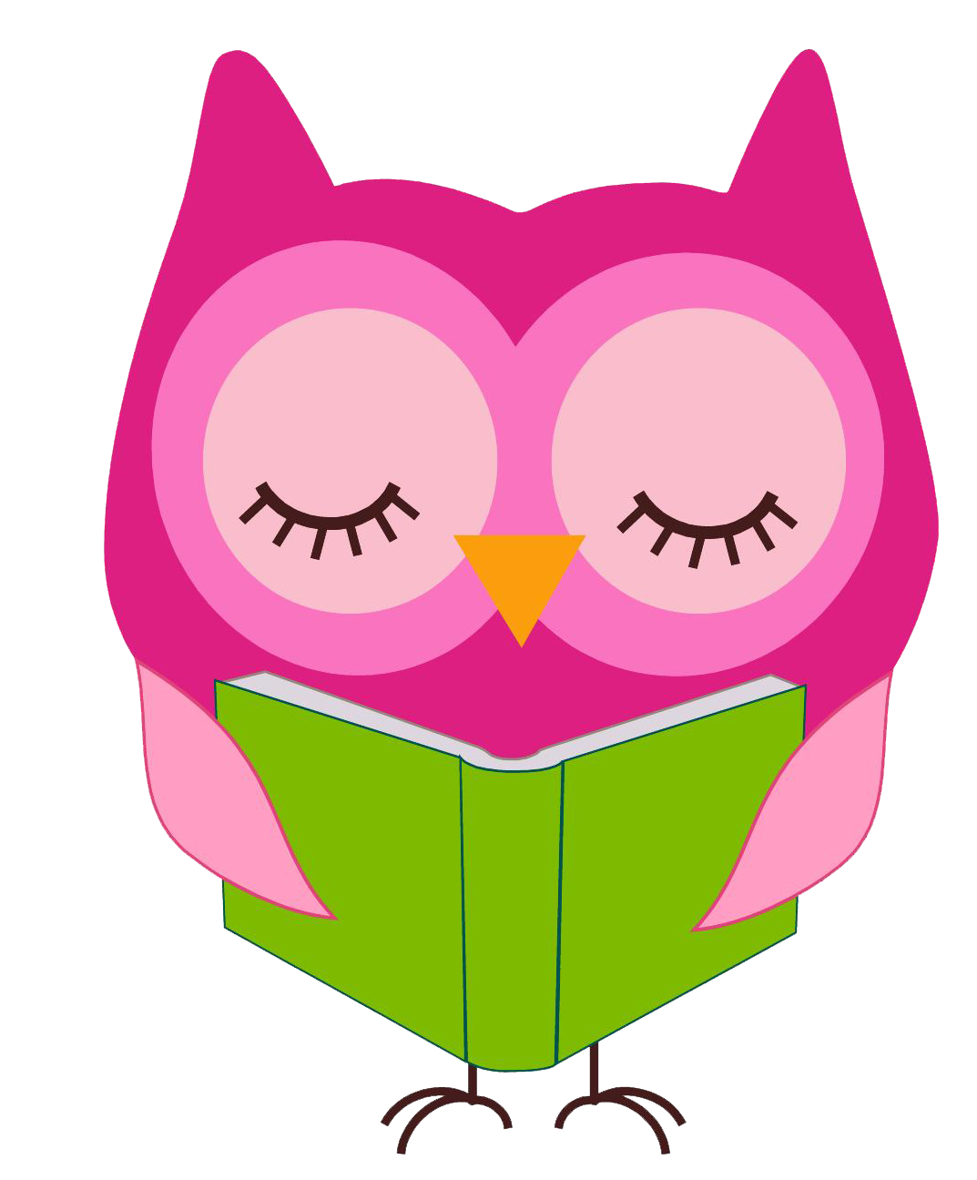 svg royalty free Owls clipart purple. Owl reading clip art