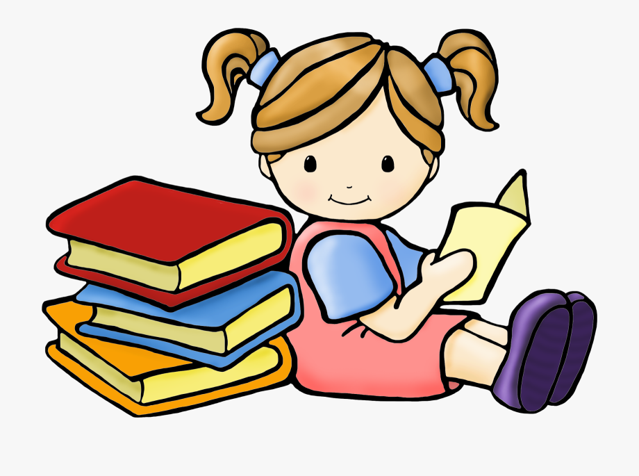 jpg library library Free images girl book. Reading clipart.