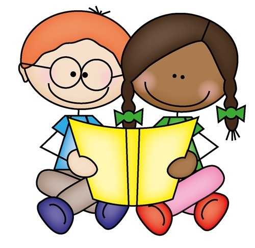 clip free download Reading clipart for kids. Two together .