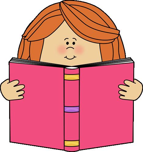 image royalty free Teacher clipart book. Girl reading a clip