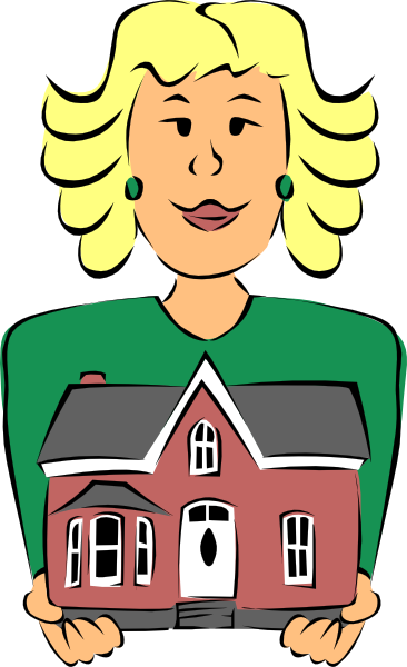 transparent Advertising clipart agency. Real estate agent holding