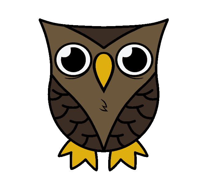 clip art black and white library Pictures of at getdrawings. Drawing owls.