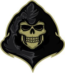 banner stock Grim art illustration sportslogos. Reaper vector