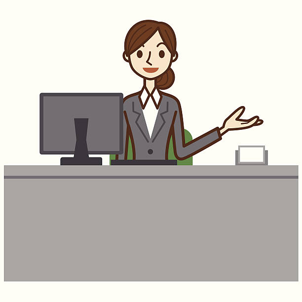 jpg free download Receptionist clipart. Station .