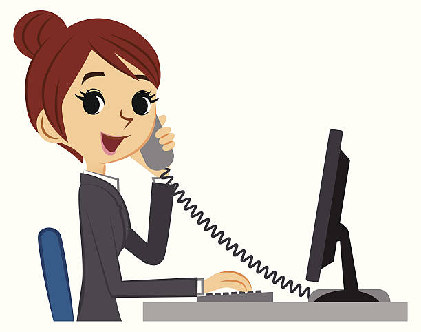 png stock Station . Receptionist clipart.