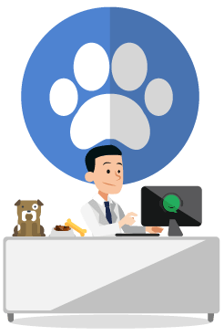 vector free Virtual receptionists for veterinary. Receptionist clipart.