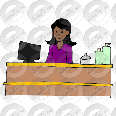 image transparent Receptionist clipart. Picture for classroom therapy.
