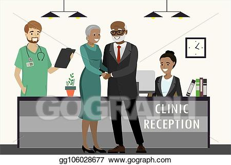 clip transparent stock Eps illustration old african. Receptionist clipart reception couple