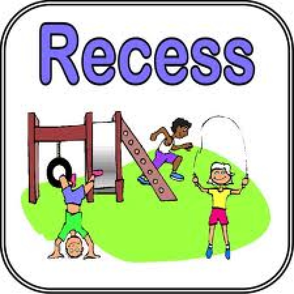 clip library stock Kids playing at . Recess clipart.