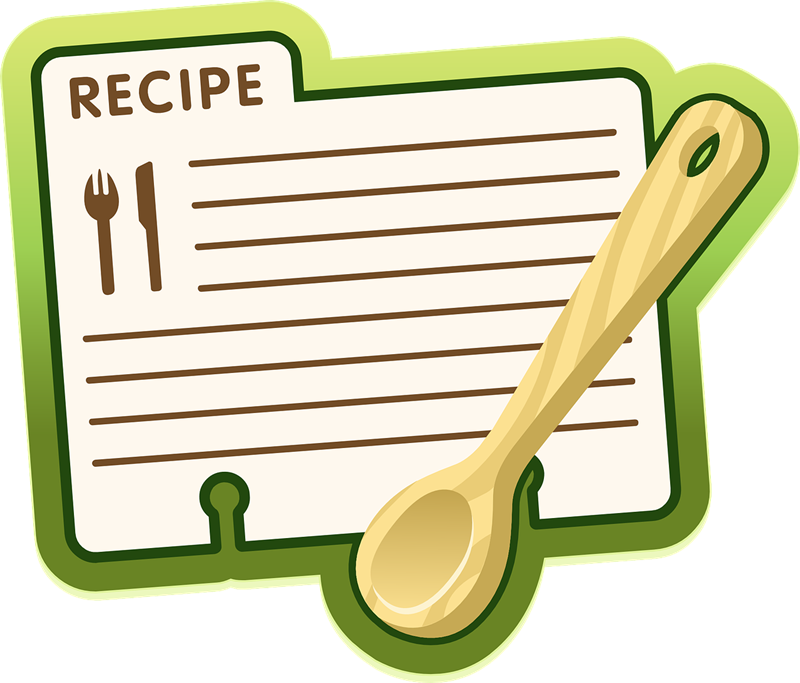 graphic transparent Free recipe cliparts download. Sheet clipart.