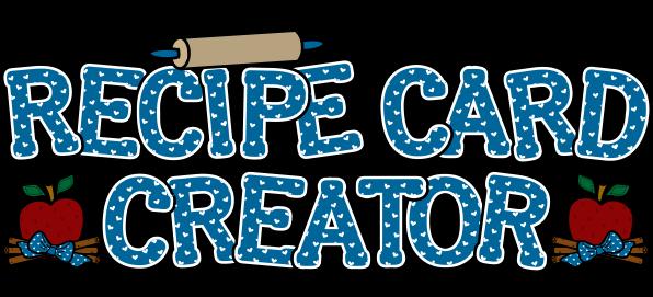 image library library Recipe Card Creator