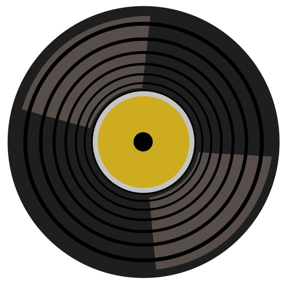 image transparent library Record clipart. Retro music turntable records.