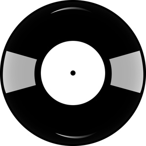 graphic black and white stock Free vinyl cliparts download. Record clipart