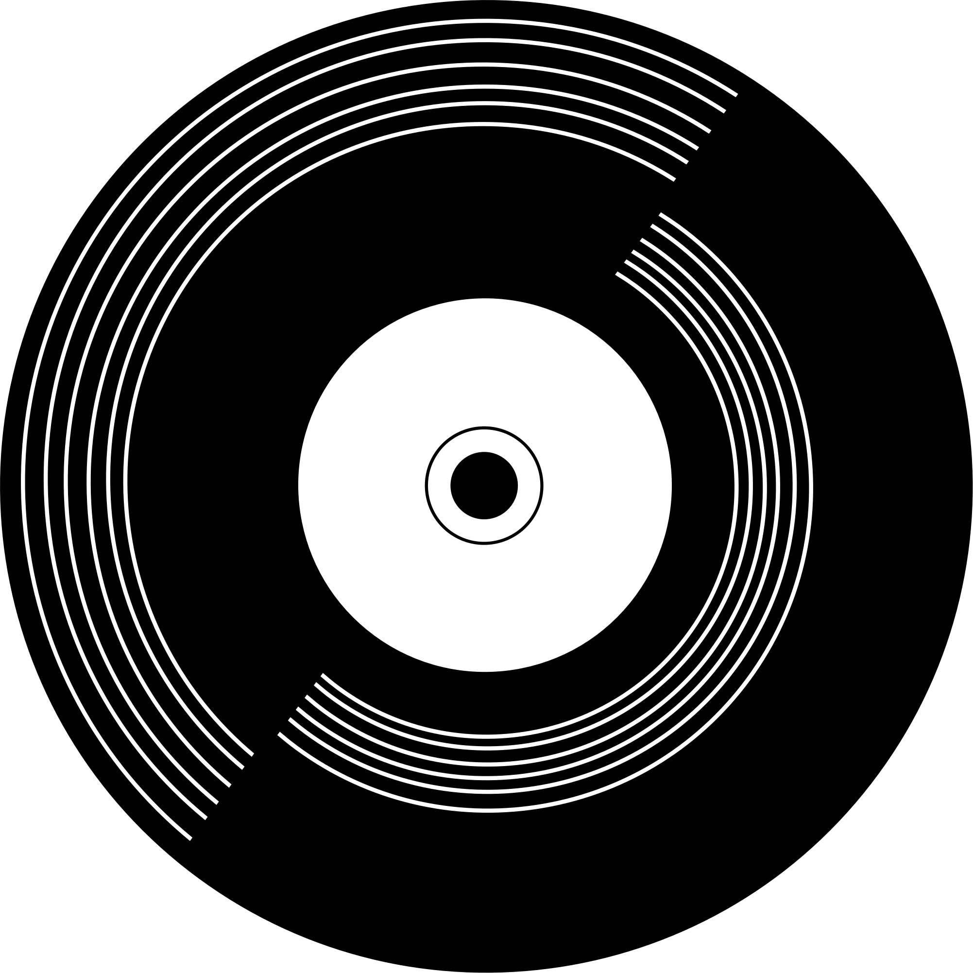 graphic black and white stock Vinyl Record Drawing at GetDrawings