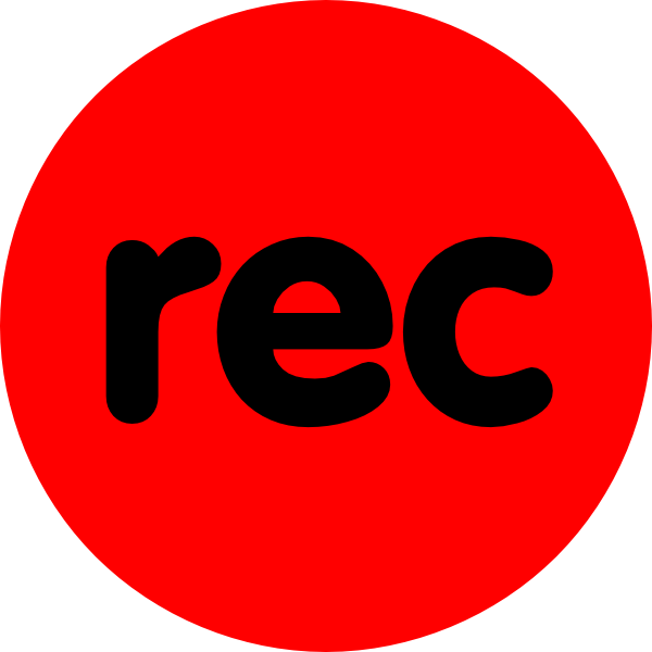 image library stock Vector buttons record.  clipart sign for