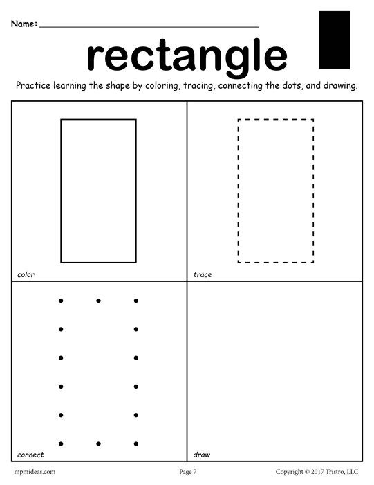 image royalty free download Pin on preschool . Drawing rectangle shape