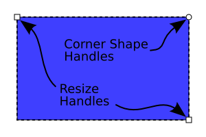 free library Drawing rectangle rounded corner. Rectangles and squares a