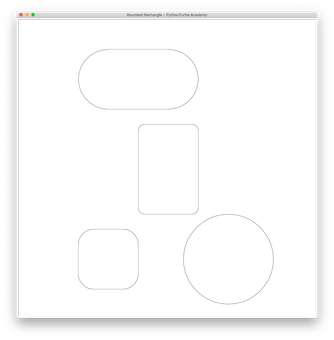 picture black and white Drawing rectangle rounded corner. Tutorial or square with