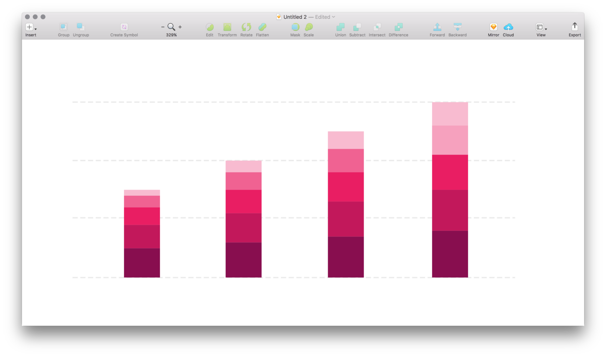 svg free stock Tame stacked bar charts in Sketch
