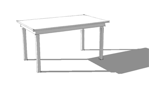 banner free stock Sketchup tutorial steps to. Drawing rectangle tabel
