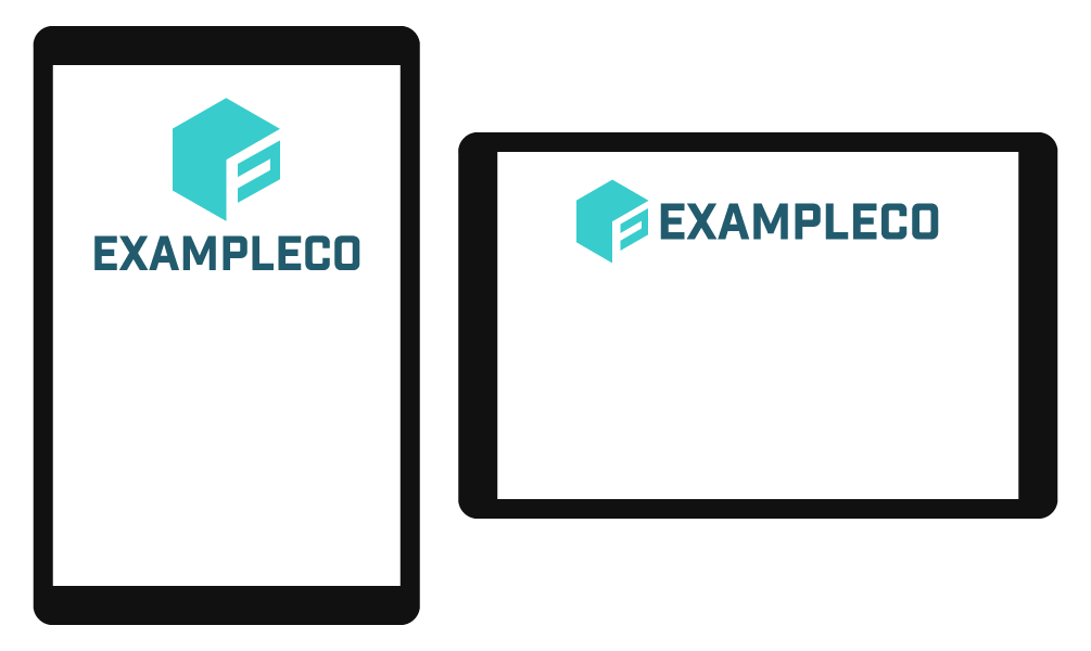 transparent stock Responsive Logo Composition With SVG