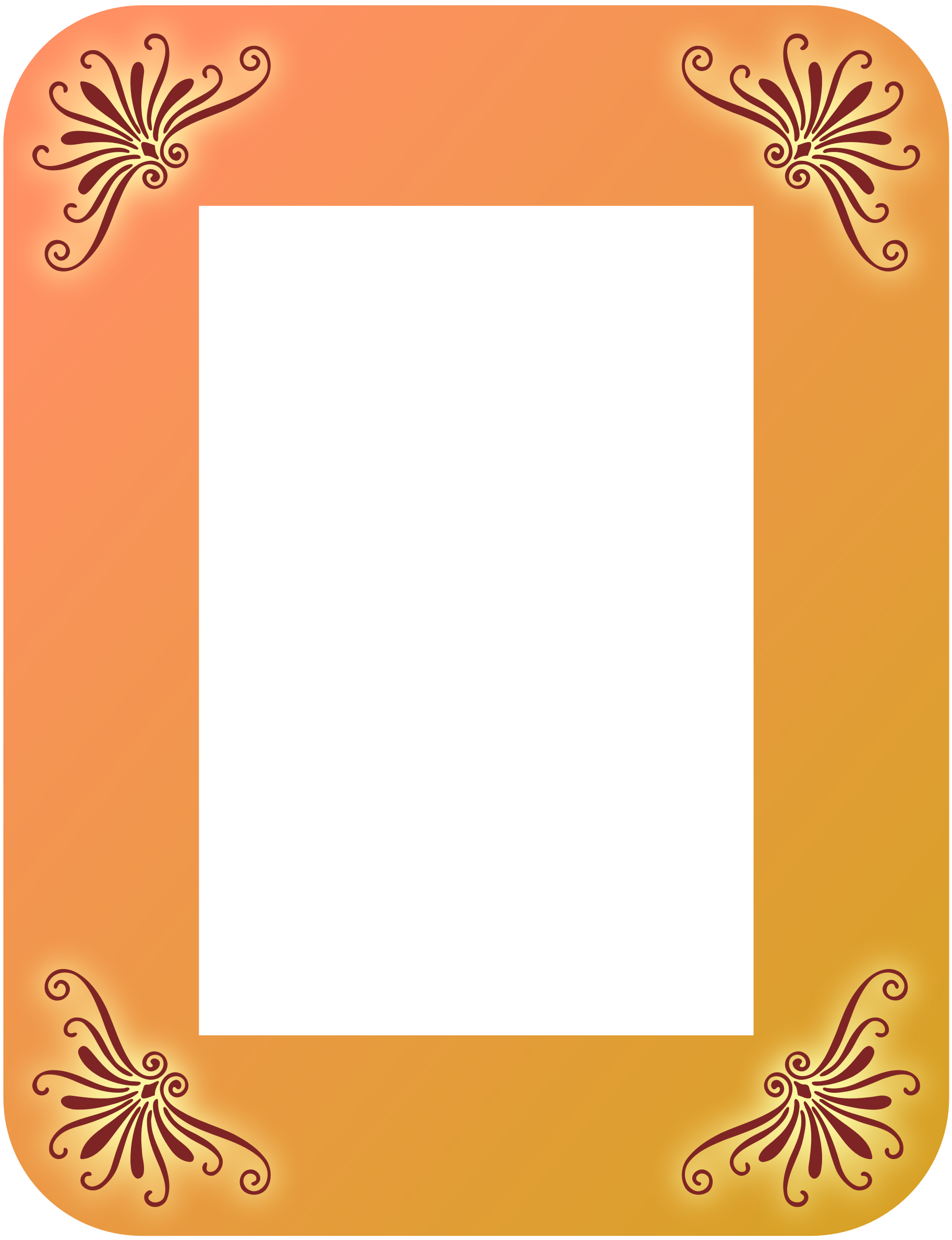 vector free Rectangular frame clipart. Colour big image png