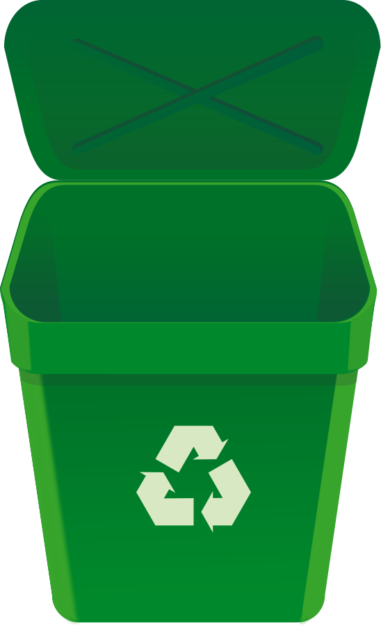 png Trashcan clipart recycling box. Recycle bin png image.