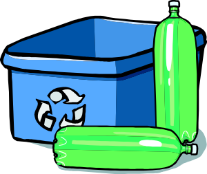 clipart freeuse download Bin and bottles clip. Recycling clipart.