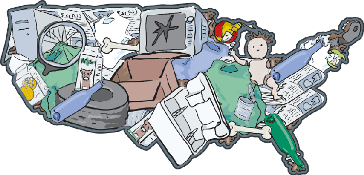 clipart transparent download Recycling clipart. Landfill usa the importance.