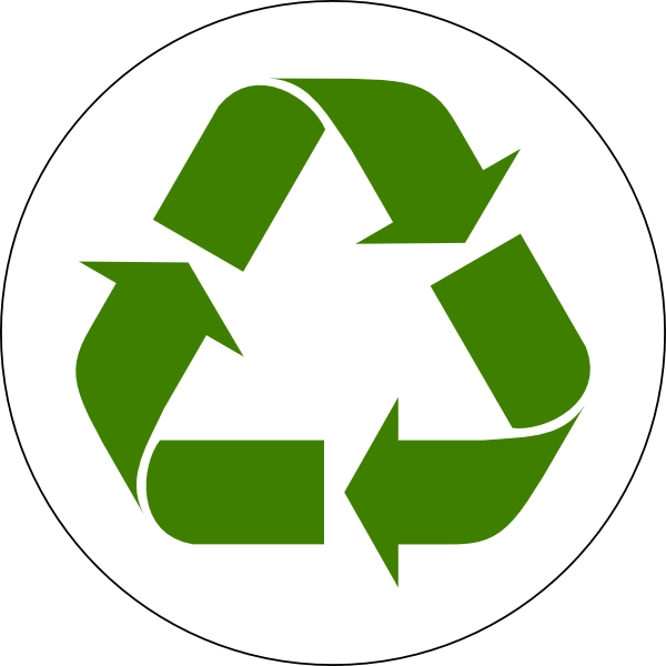 clip art transparent stock Recycling vector paper icon. Green recycled symbol clip