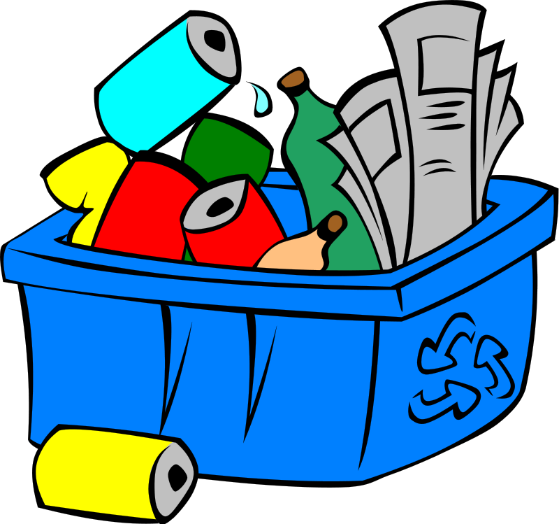 freeuse stock Can . Recycling clipart.