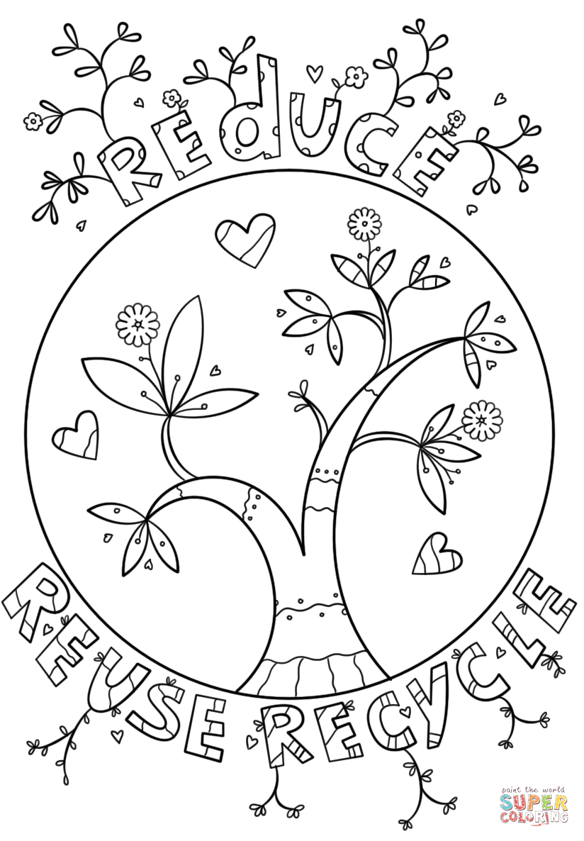jpg black and white Recycling drawing color. Reduce reuse recycle doodle