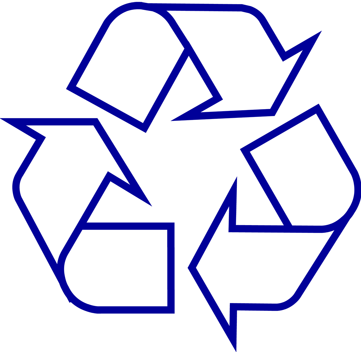 jpg royalty free Download symbol the original. Recycling drawing color