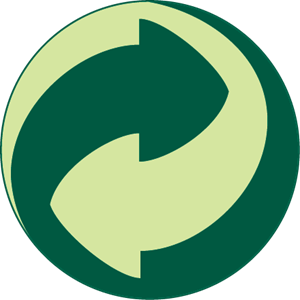 graphic library library GREEN DOT RECYCLING SYMBOL Logo Vector