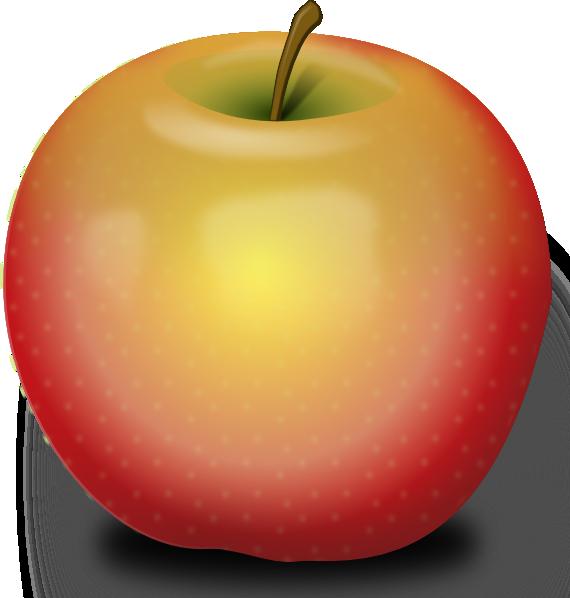 vector transparent download Red apples clipart. Photorealistic apple clip art