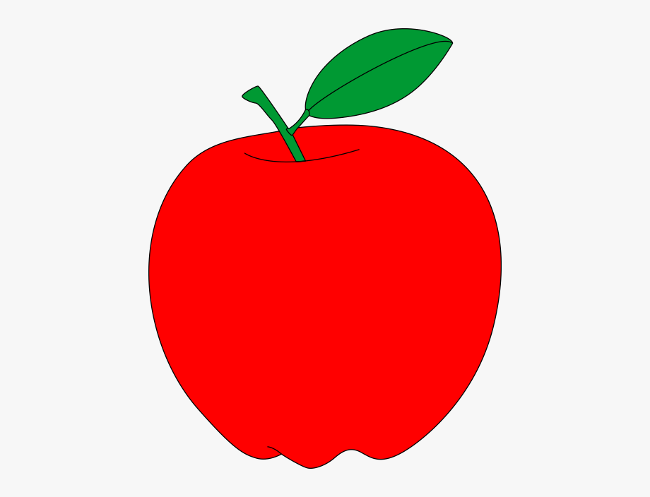 clip black and white library Apple printable free . Red apples clipart.