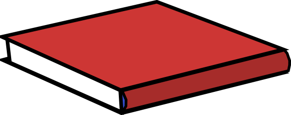 vector royalty free library Red Book Clip Art at Clker