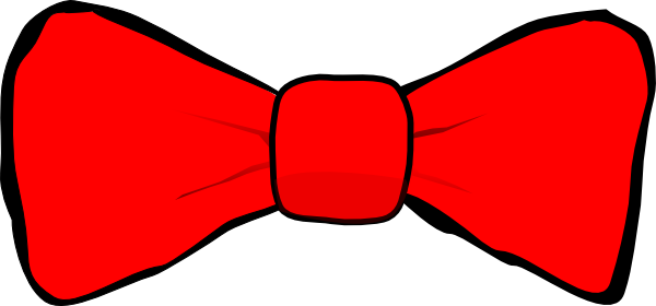 vector black and white Red bowtie clipart. Bow tie clip art