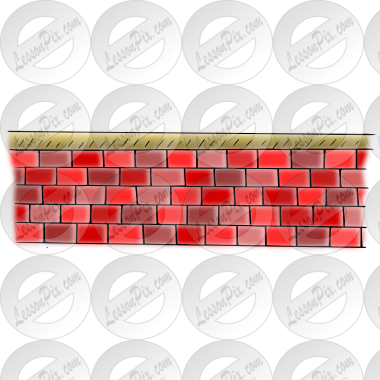 png freeuse download Red brick wall clipart. Picture for classroom therapy