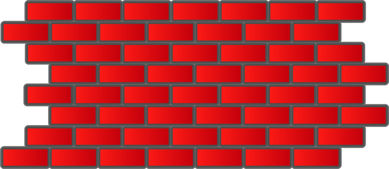 vector free stock Brickwork stone computer icons. Red brick wall clipart