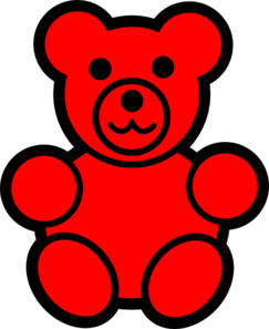 png free stock Bear clip art at. Red clipart