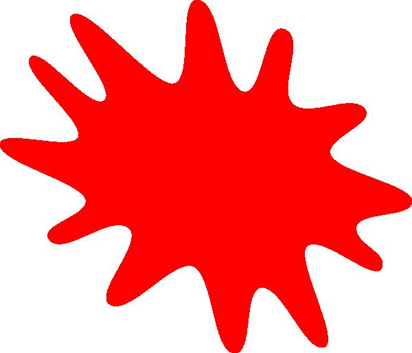 clip free Paint splatter clip art. Red clipart