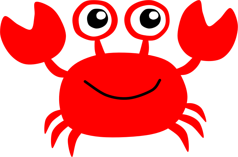 clip art freeuse library Red cilpart staggering crab. Sea animal clipart
